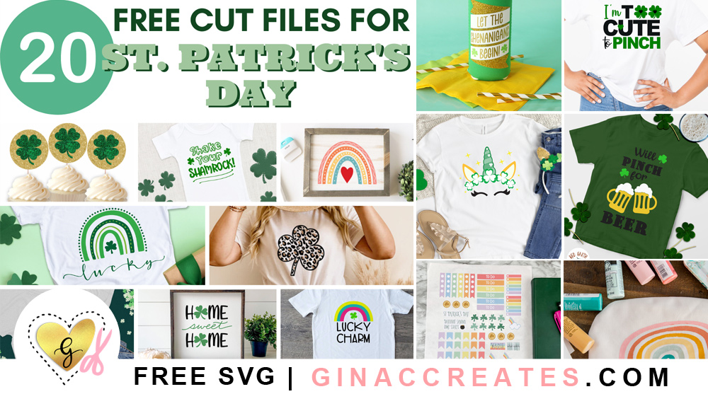free st. patrick's day svg cut files
