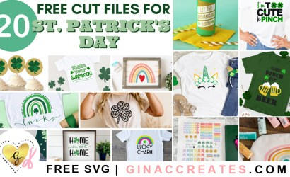 20 Free St. Patrick's Day SVG Cut Files