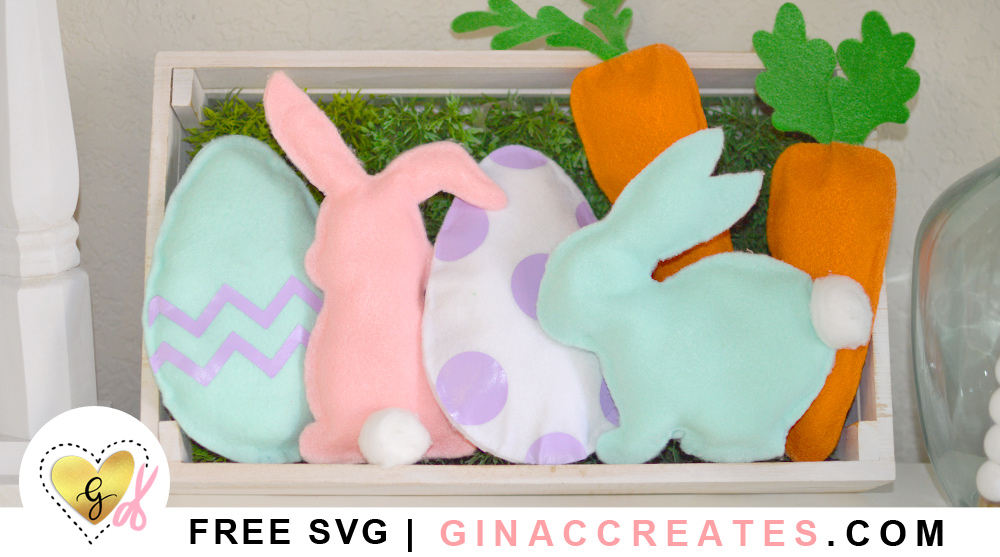 Cricut Easter felt pillow accents free svg