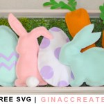 Cricut Easter felt pillow accents free svg