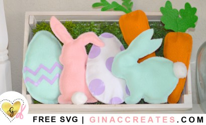 How to Cut Felt and make Mini Easter Pillows