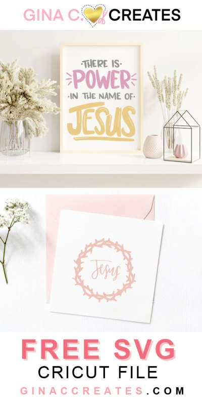 power in the name of Jesus, free Christian svg