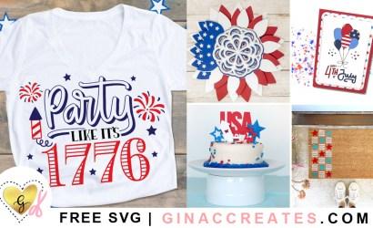 4th of July Free SVG Cut Files