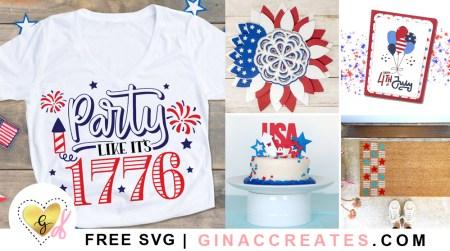 free 4th of july SVG cut files
