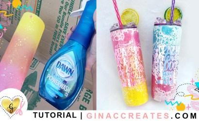 Tutorial Powerwash Glitter Tumbler with Ice Lid