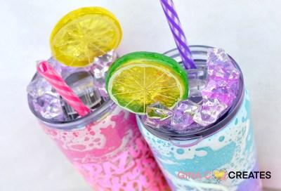 tutorial glitter powerwash tumbler ice lid