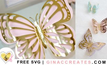 Layered Butterflies Free SVG Cut Files