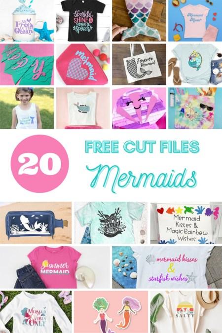 free mermaid svg cut files