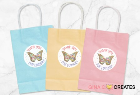 Goodie candy bags butterfly party idea