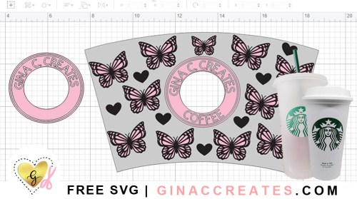 starbucks cup wrap dimensions, starbucks free svg template