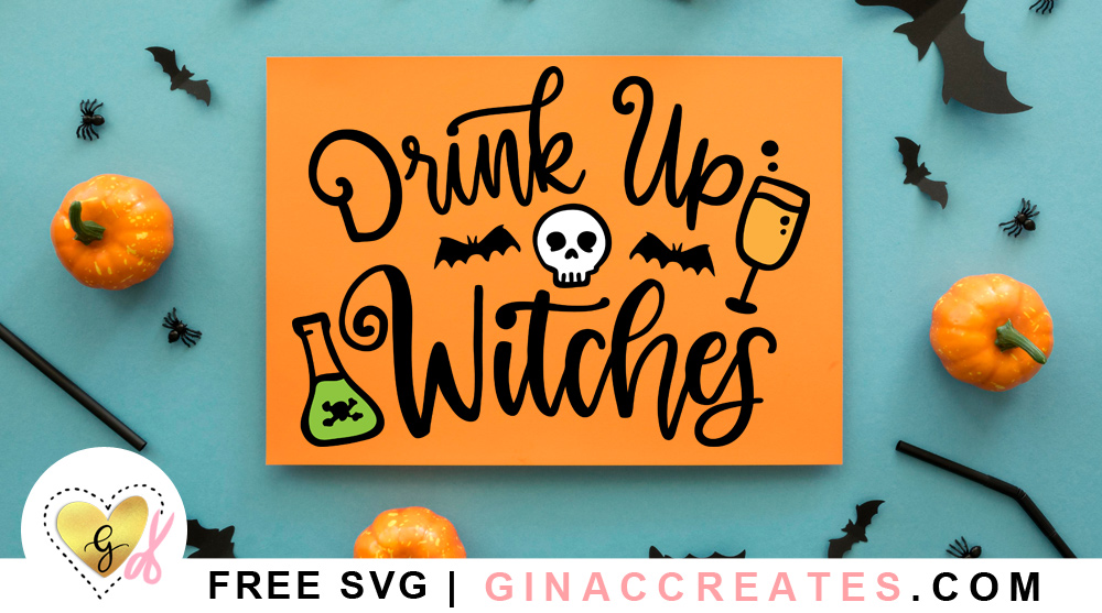 free halloween svg drink up witches