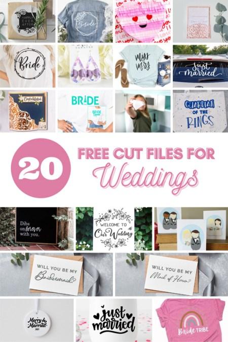 20 wedding cut files