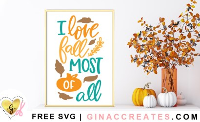 I Love Fall Most of All Free SVG Cut File