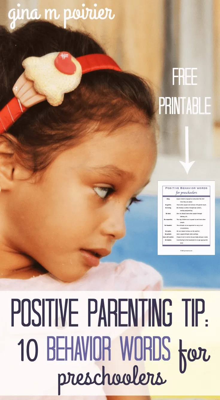 Positive Parenting Tip | Behavior Words | Christian Parenting