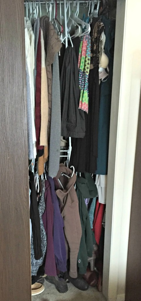My closet: before