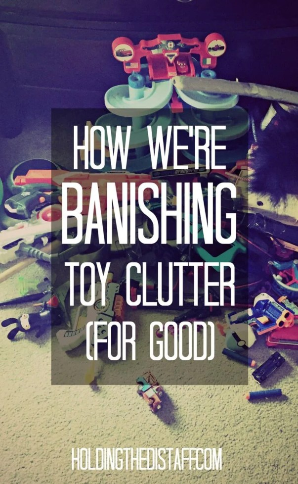 "How We're Banishing Toy Clutter, For Good: how we're using the KonMari decluttering method to take our house back from ""kid creep""!"