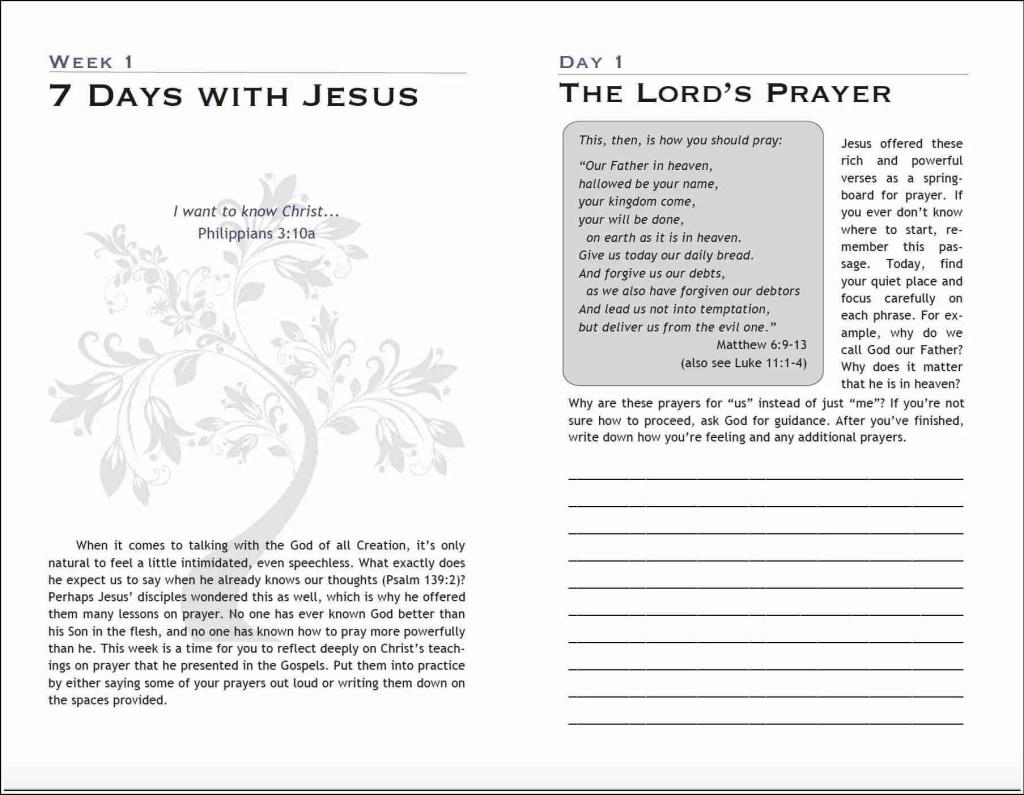 7 Days with Jesus Free Journal