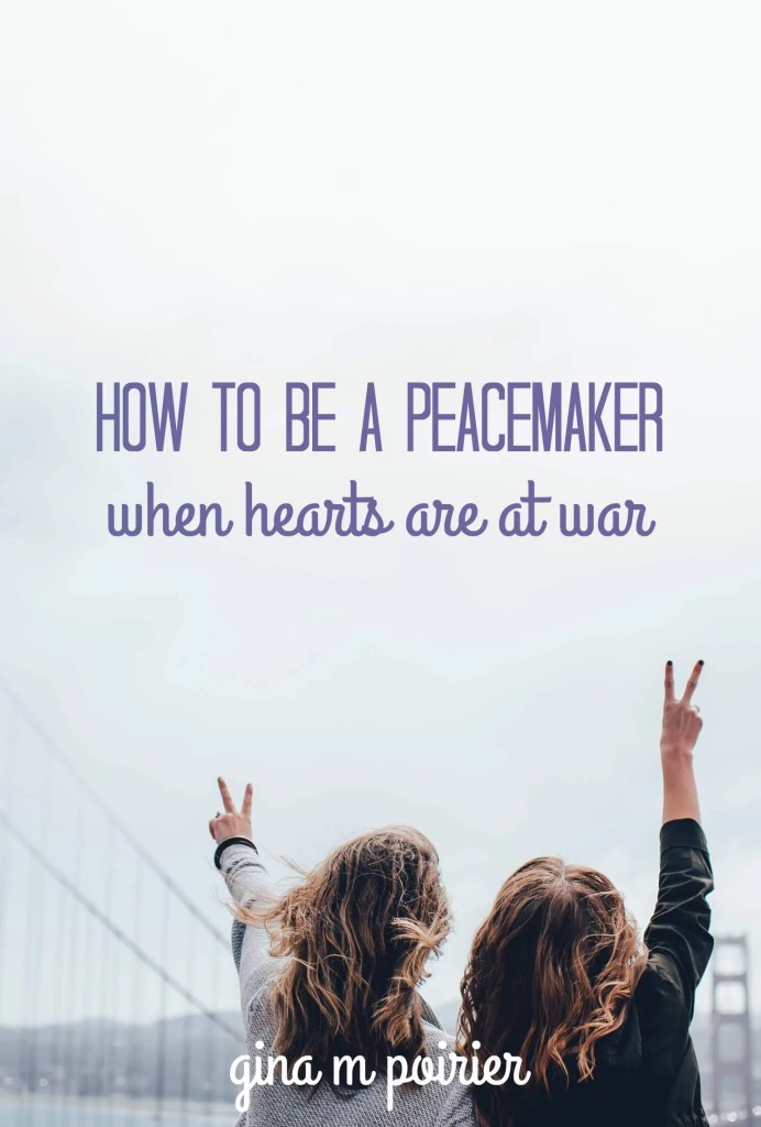 How do you respond to political and cultural unrest? The key to being a peacemaker is to take the time to listen to what you don't understand.