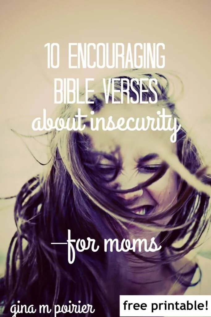 Bible verses about insecurity | encouragement for Christian moms