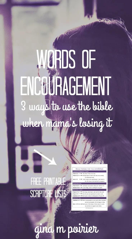 Words of Encouragement | Encouraging Bible Verses