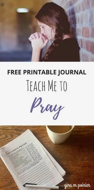 Free Printable Prayer Journal Teach Me To Pray