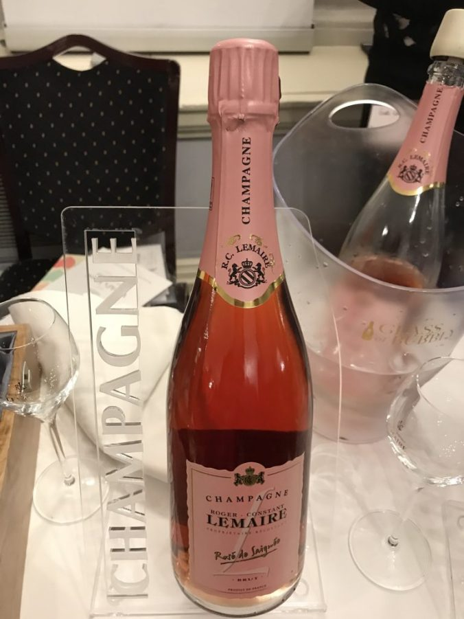 The beautiful pink of Lemaire's rosé Champagne