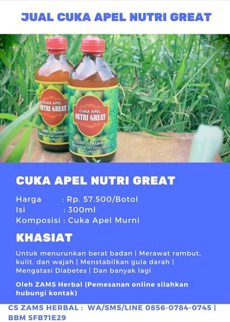 Jual Cuka Apel Nutri Great