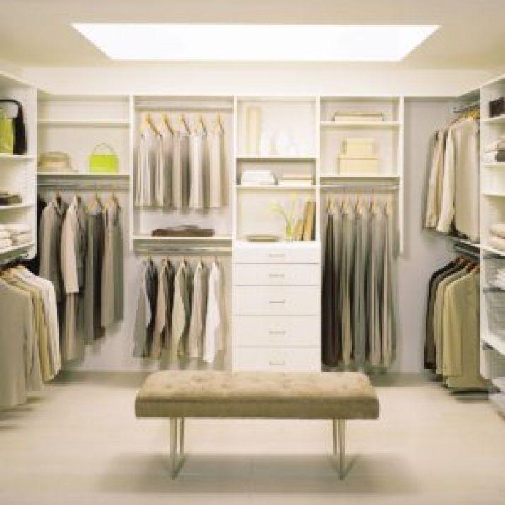 small narrow walk in closet ideas