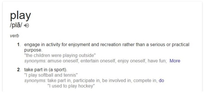 define play