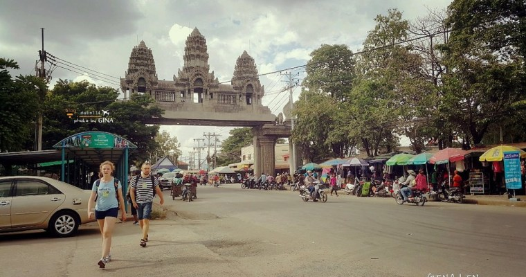 柬埔寨自由行》從泰國邊境到柬埔寨邊境到暹粒(吳哥窟)市區 柬埔寨簽證、交通方式(曼谷考山路買車票行程教學)