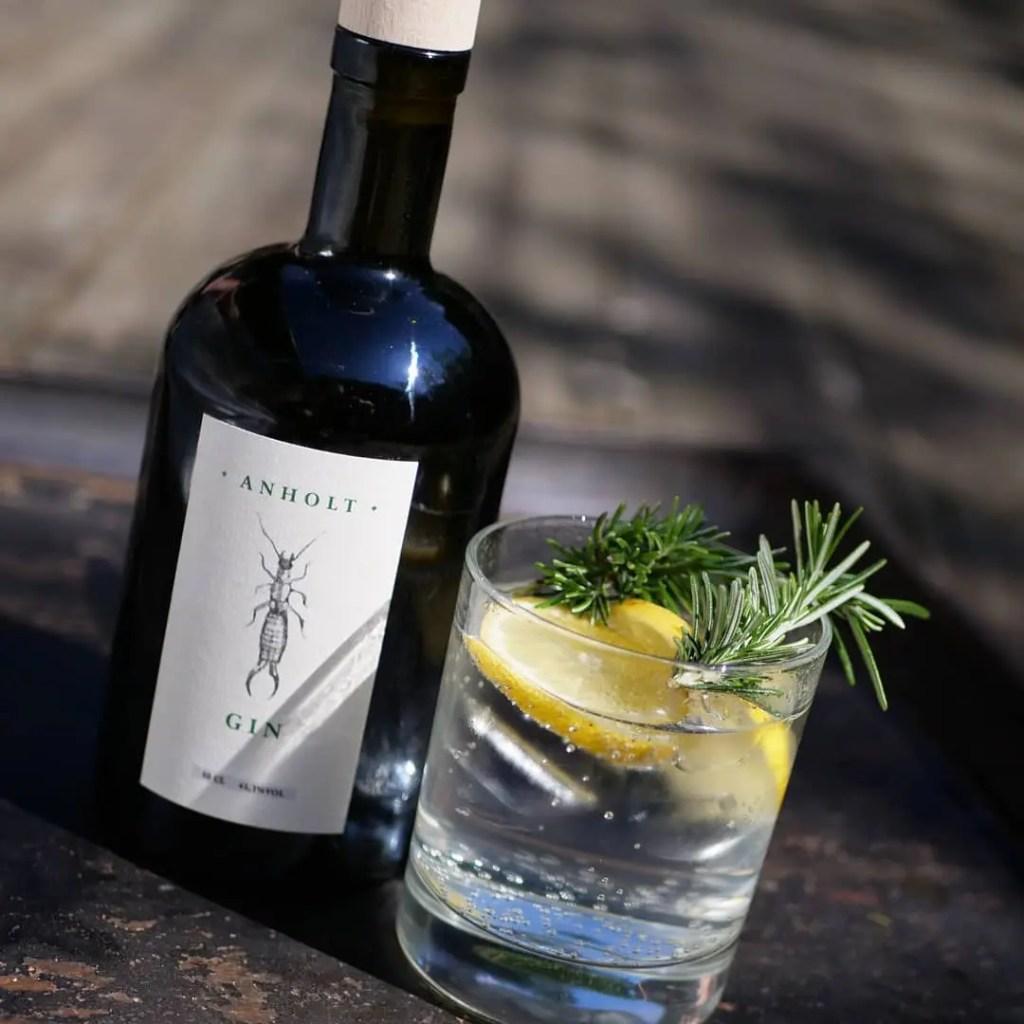 Billede af Anholt gin og tonic med citron og rosmarin