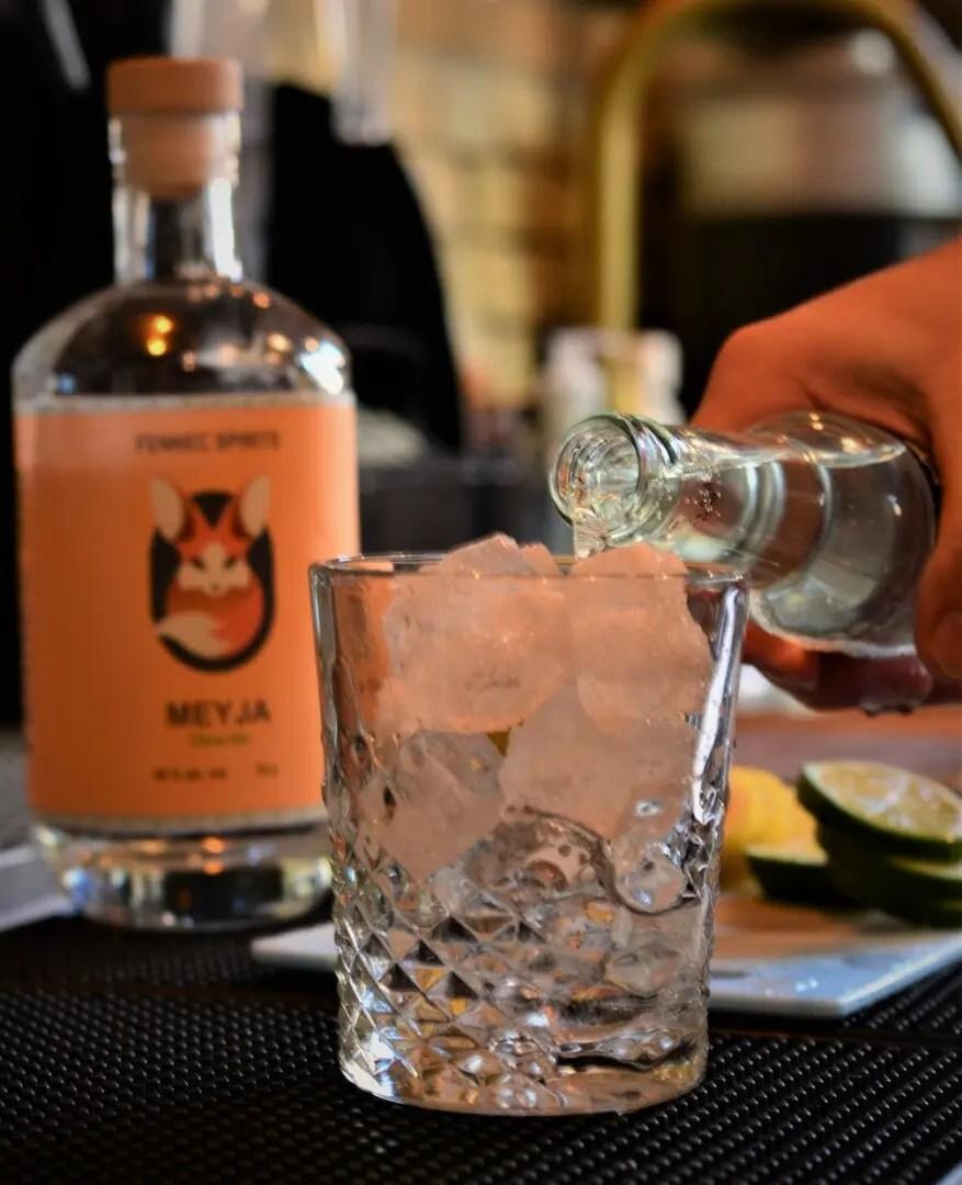 Billede af en cocktail med meyja gin