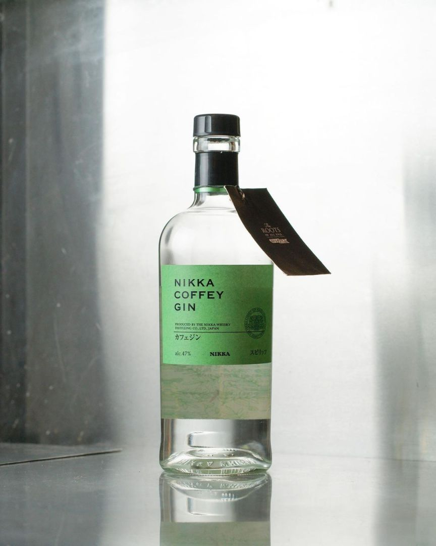 Billede af en Nikka Coffey Gin med grå baggrund