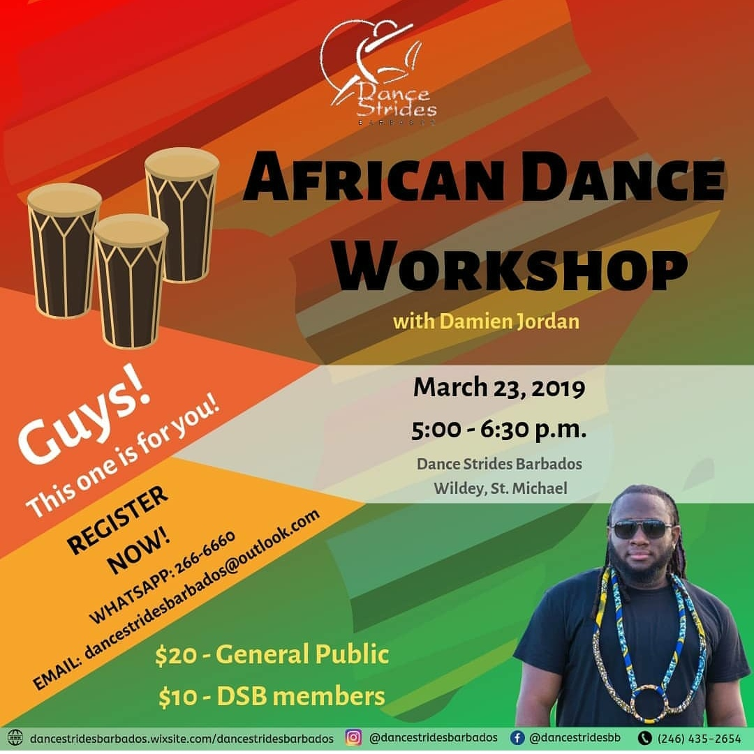 African Dance Workshop | Gine On?! - Bajan Arts and Culture