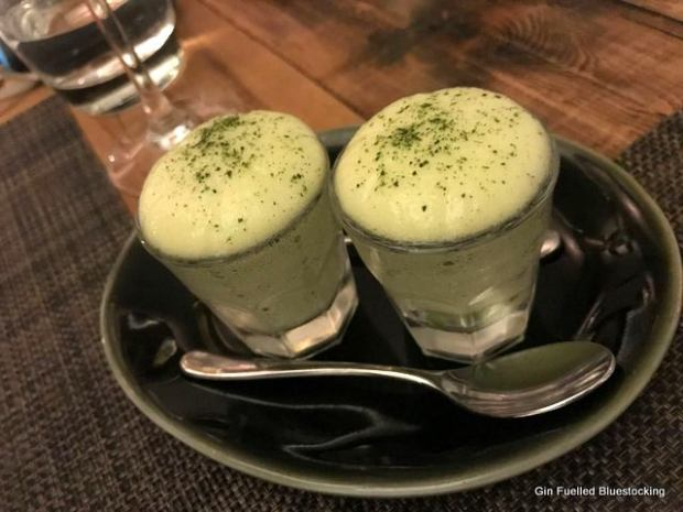 Apple and celery foam