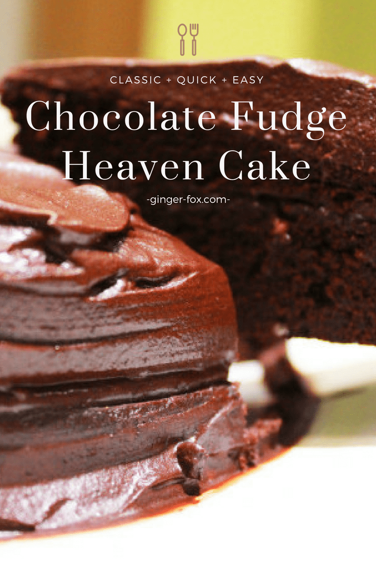 chocolate fudge heaven cake pin