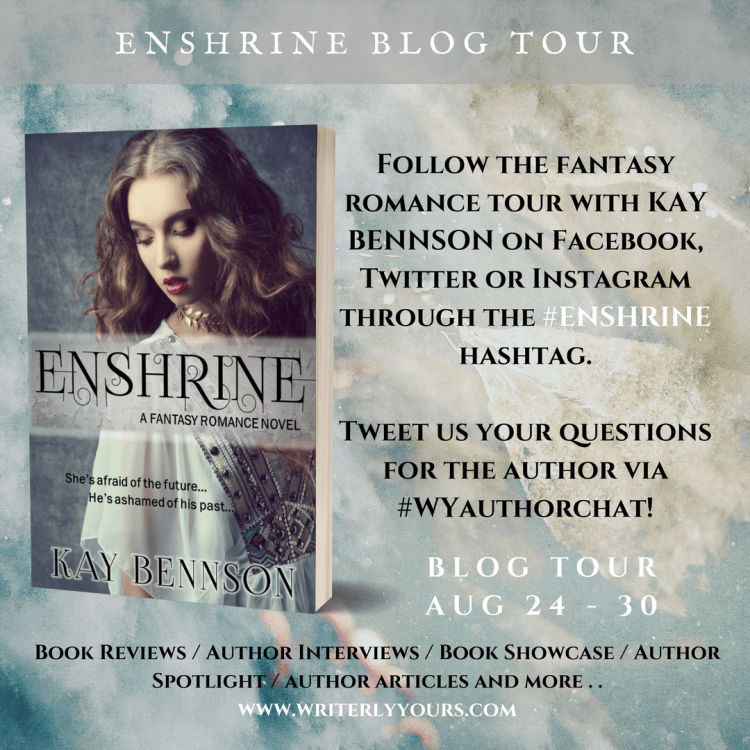 Enshrine blog tour banner