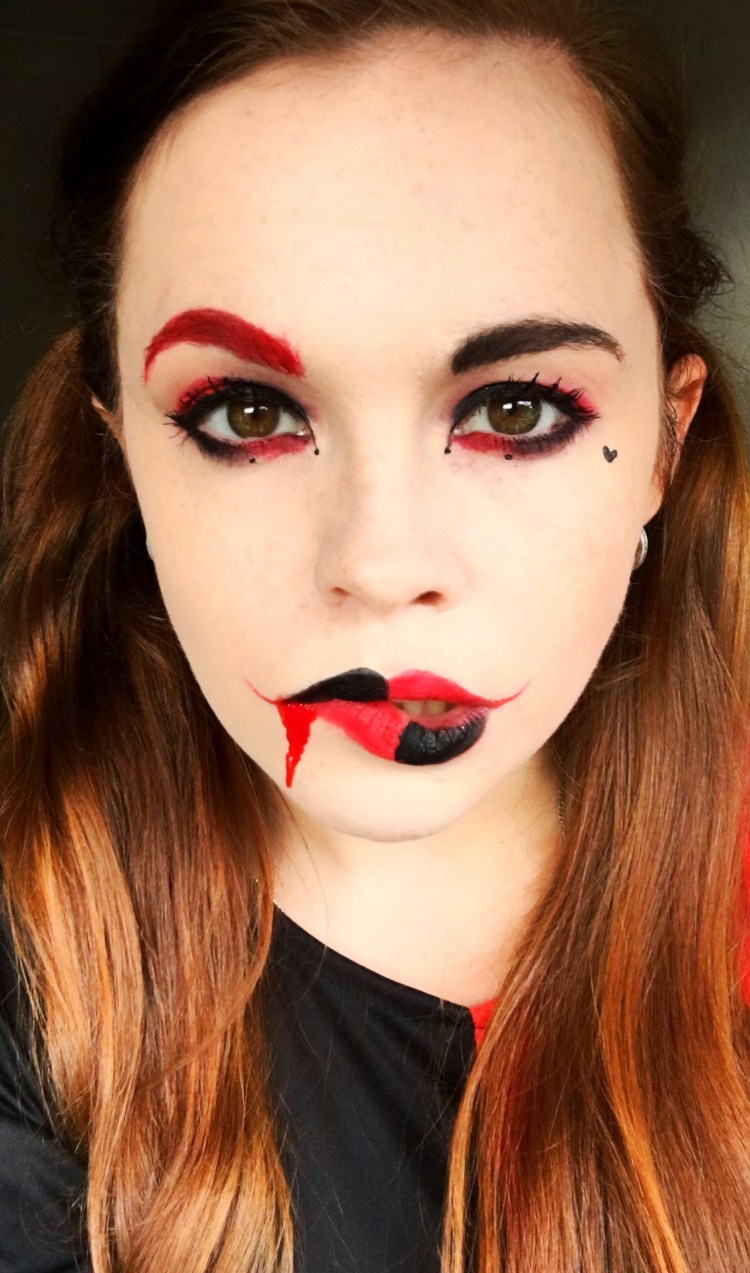 Halloween Makeup Looks For Guys.Harley Quinn Halloween Makeup Ginger Fox