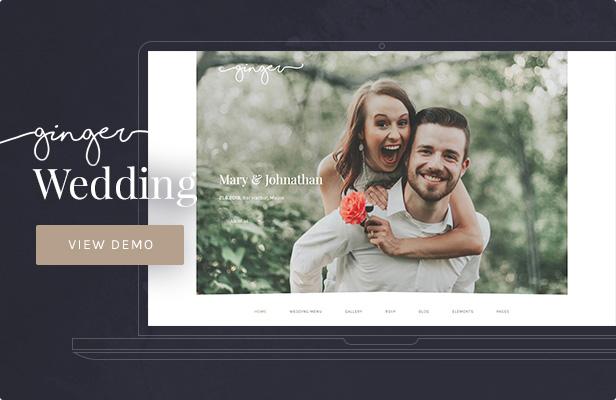 Ginger — Wedding WordPress Theme