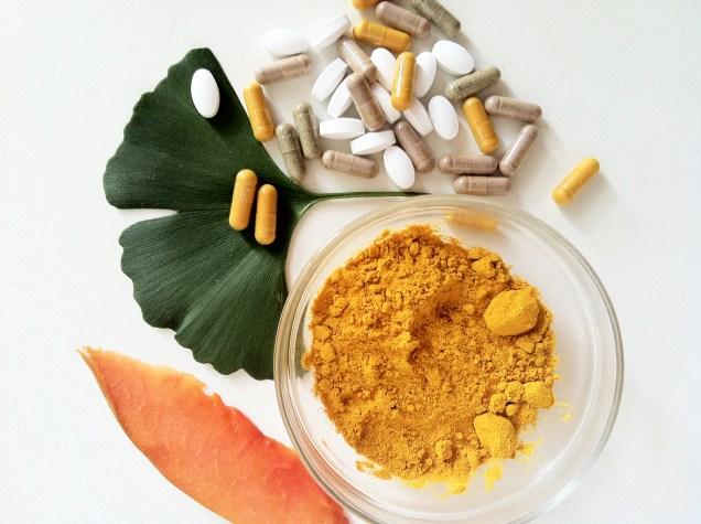 Supplements Papain Turmeric Zinc Horse Chestnut Silica Calcium