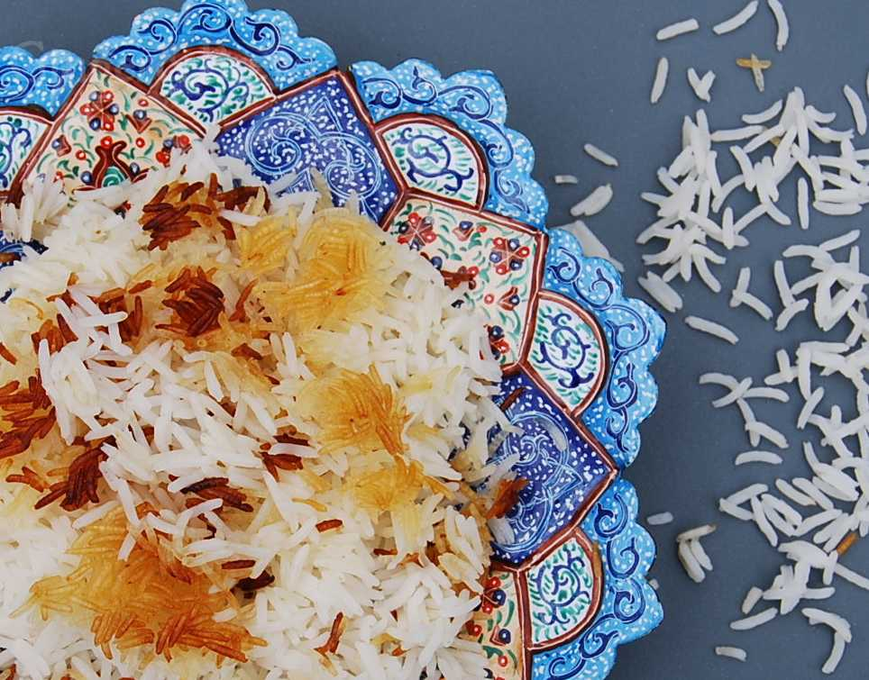 Iran: Chelo Rice - the one with the slightly burnt bottom