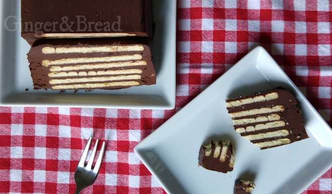 No-Bake Chocolate Layer Cake: Kalter Hund