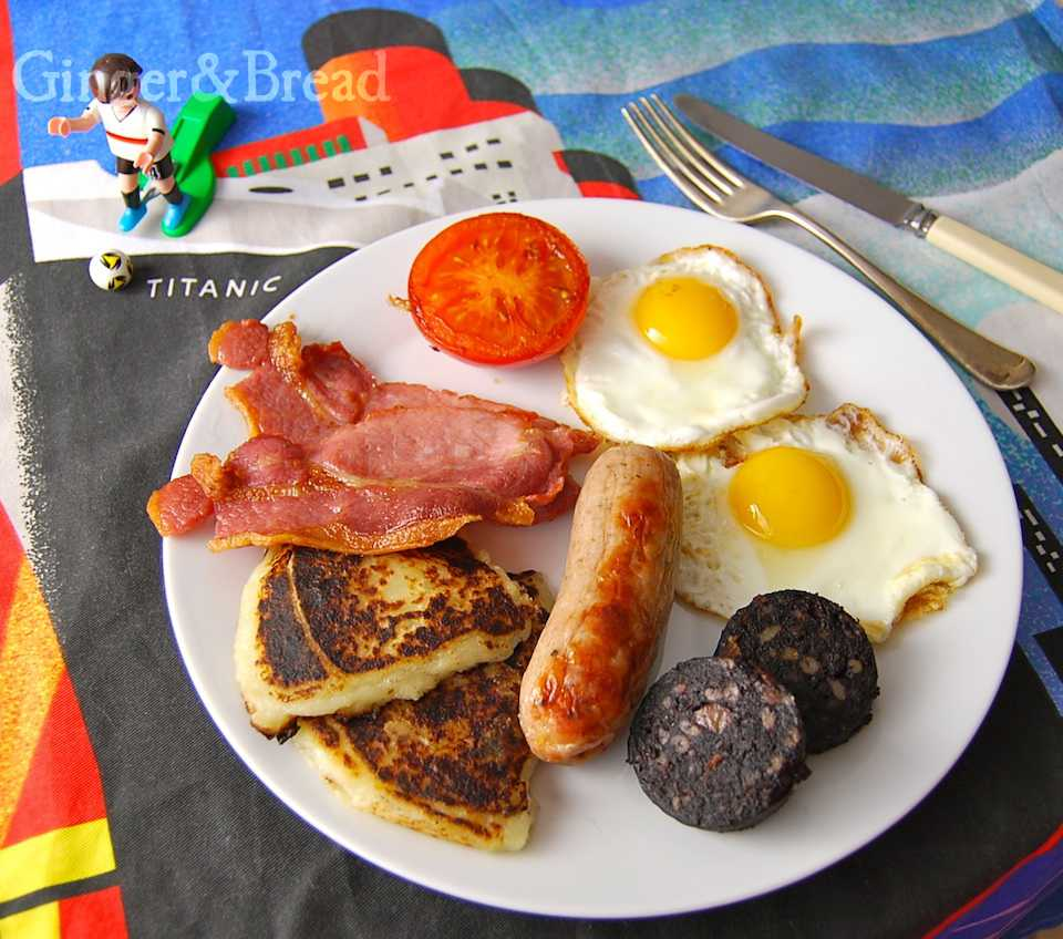 Ulster fry with potato farls