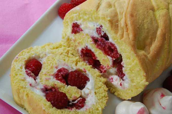 Raspberry Roll – Low Fat Fun