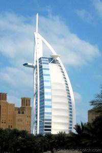 View of Burj al Arab from the Madinat