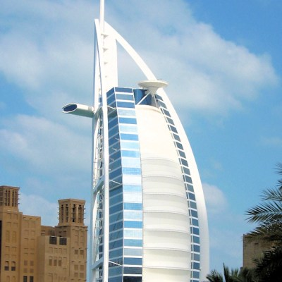 Celebrating at the Burj Al Arab