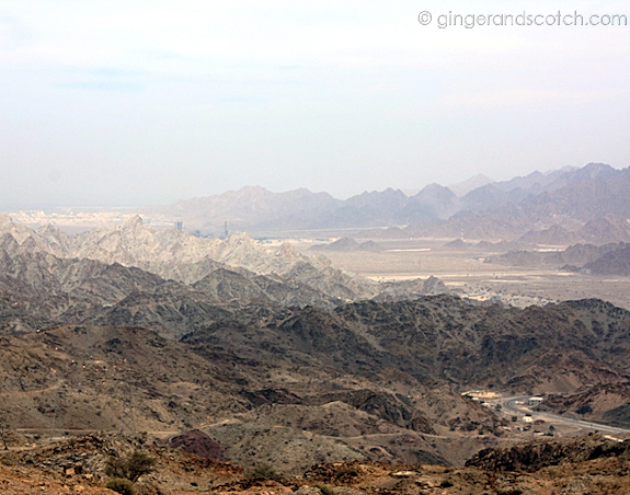 View from top of Wadi