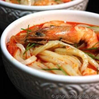 Kimchi Udon Chicken Soup