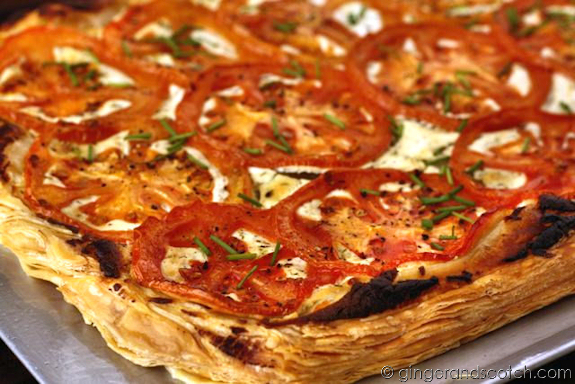 Tomato and goat cheese tart