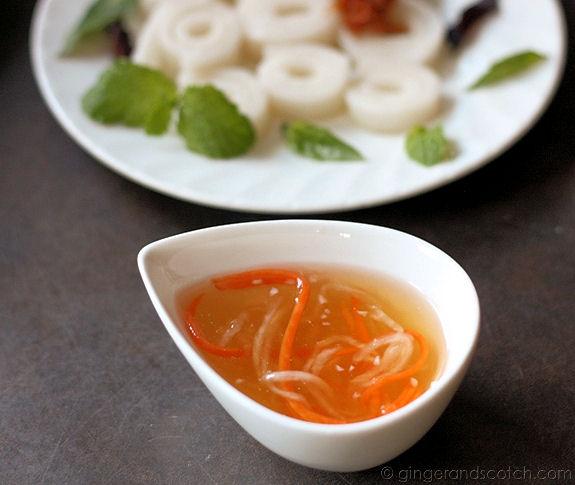 Cheong Fun with Nuoc Cham sauce